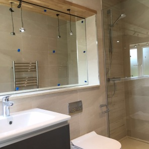 En-suite bathroom for a new hotel renovation in Oxford