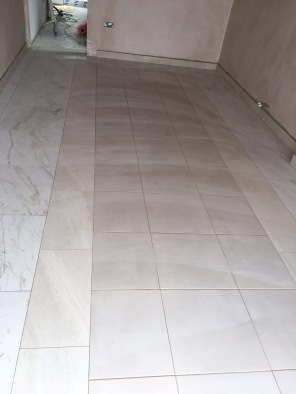 Tiled Floor in progress